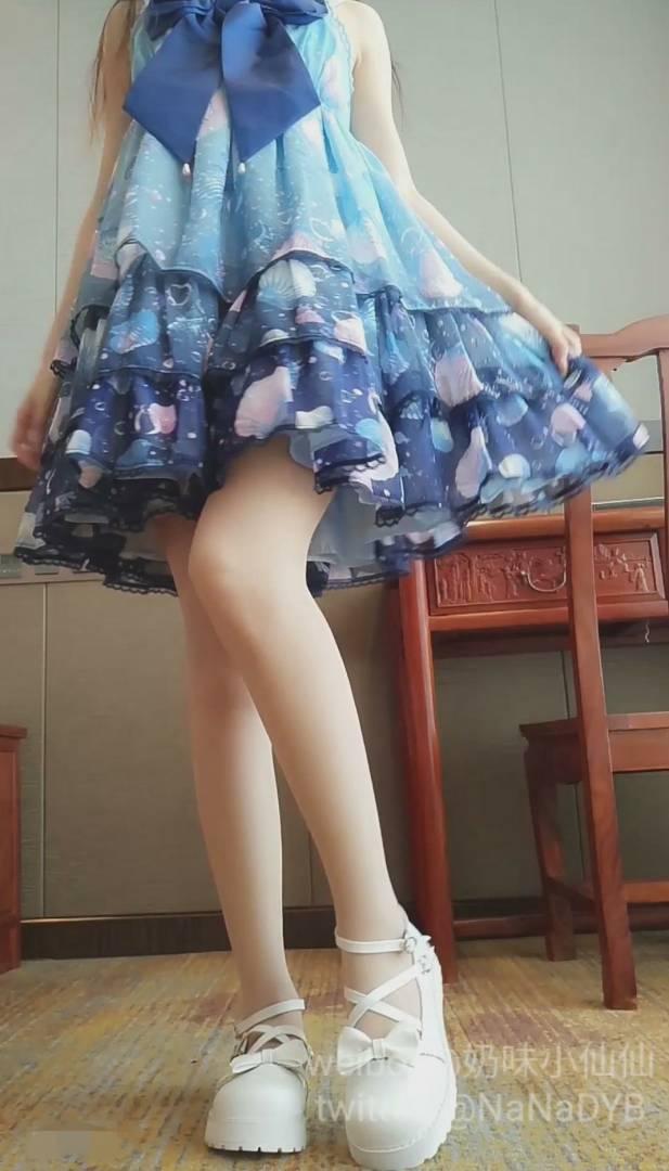 软萌萝莉小仙最新-蓝色洛丽塔[1V+1.42G]